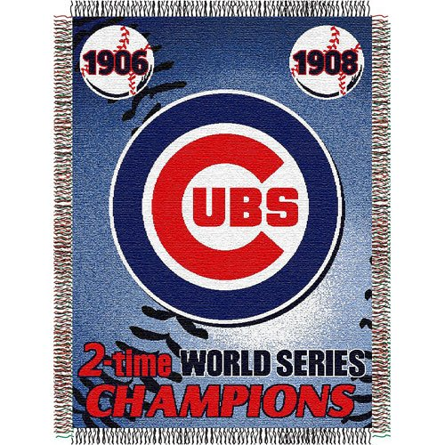 "Chicago Cubs MLB World Series Commemorative Woven Tapestry Throw (48x60"")"" at Amazon.com"