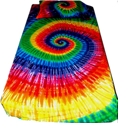 12 Color Spiral Tie Dye Sheets - Bedding - King