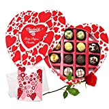Admirable Chocolates With Rose And Love Card - Chocholik Belgium Chocolates