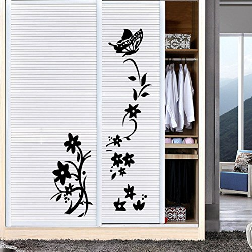 Wall Sticker,Ikevan Flower Vine Room Refrigerator Wardrobe Sticker Decal Mural Living Room Bedroom Home Decor 84x55cm (Amplifier Fridge compare prices)