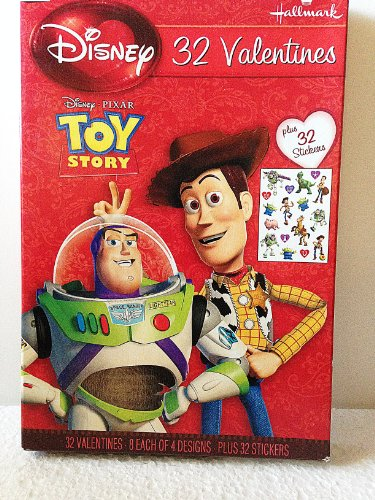 Disney Pixar Toy Story Valentines (32) Plus Stickers