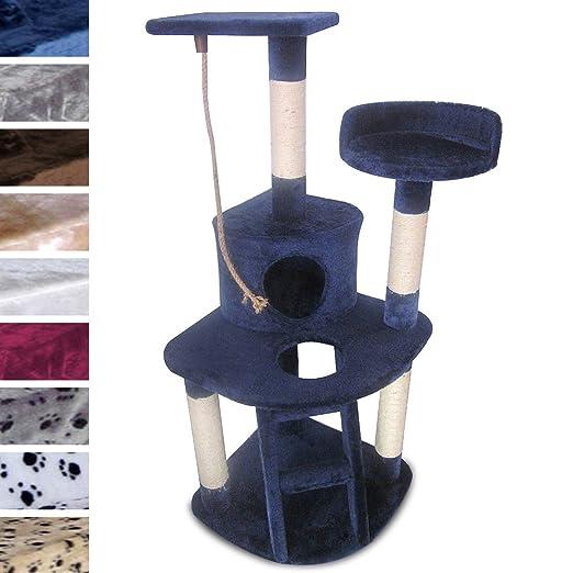 leopet arbre chat grattoir bleu 1 20 1 20 m diverses couleurs au choix. Black Bedroom Furniture Sets. Home Design Ideas
