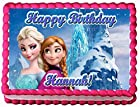 Frozen Ice Palace 1/4 Sheet Edible Photo Birthday Cake Topper. ~ Personalized!