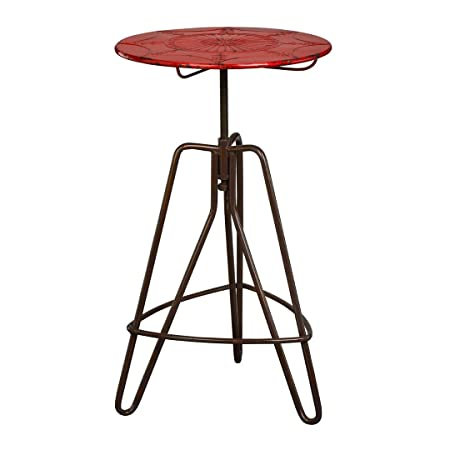 Protege Homeware Red Metal Artisan Table