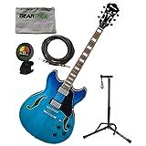 Ibanez AS73FMAZG AS Artcore Semi-Hollowbody Electric Guitar - Azure Blue Gradati