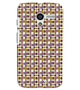 PrintVisa Corporate Print & Pattern Art 3D Hard Polycarbonate Designer Back Case Cover for Motorola Moto X