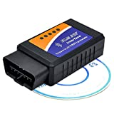 Auto-Partner Car Diagnostic Tools OBDII Interface Code Reader / Scanner for Android Devices (Bluetooth Interface) (Color: Black, Tamaño: Bluetooth Interface)