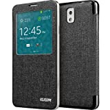 61ktzC4lP2L. SL160  ESR Maya Elegant Series S View Flip Leather Case Cover with Auto Wake/Sleep for Samsung Galaxy Note 3(Obsidian Black)
