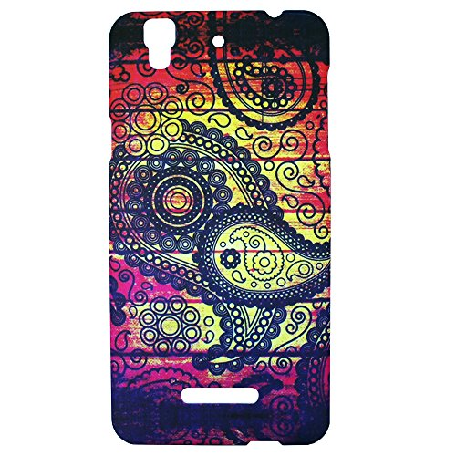 Heartly Aztec Tribal Art Printed Design Retro Color Armor Hard Bumper Back Case Cover For Micromax Yu Yureka Plus Cyanogenmod - Dark Leaf