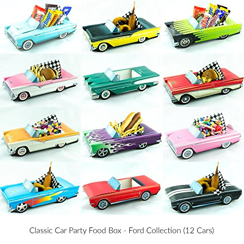 12 Classic Car Party Food Boxes - Ford Collection (Classic Car Birthday compare prices)