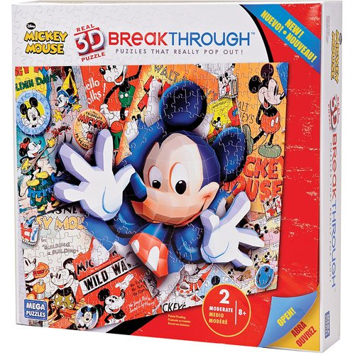 Mega Puzzles Mickey Mouse 3D Breakthrough Puzzle, - 1