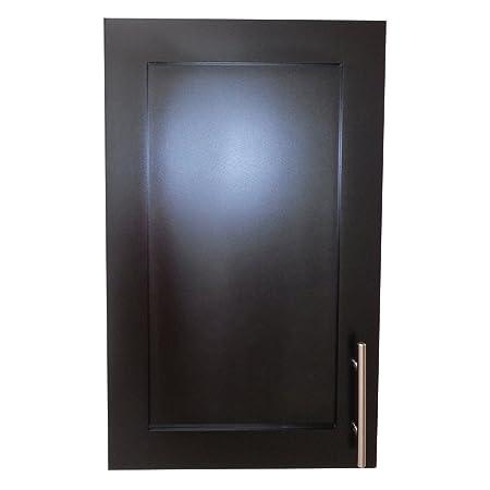 Wood Cabinets Direct Recessed Standard Depth Aspen Frameless Cabinet, 24-Inch, Black