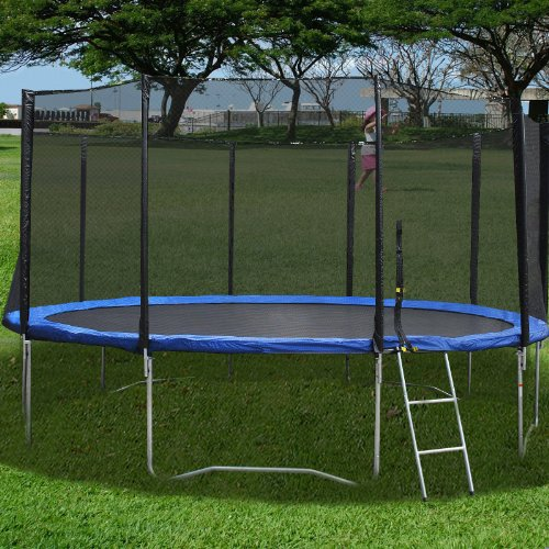 Goplus 16ft Trampoline Combo Bounce Jump Safety Enclosure