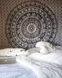Elephant Throw Tapestry, Indian Mandala Wall Hanging,...