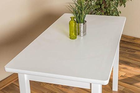 Tisch 60x110 cm Kiefer massiv, Farbe: Weiß