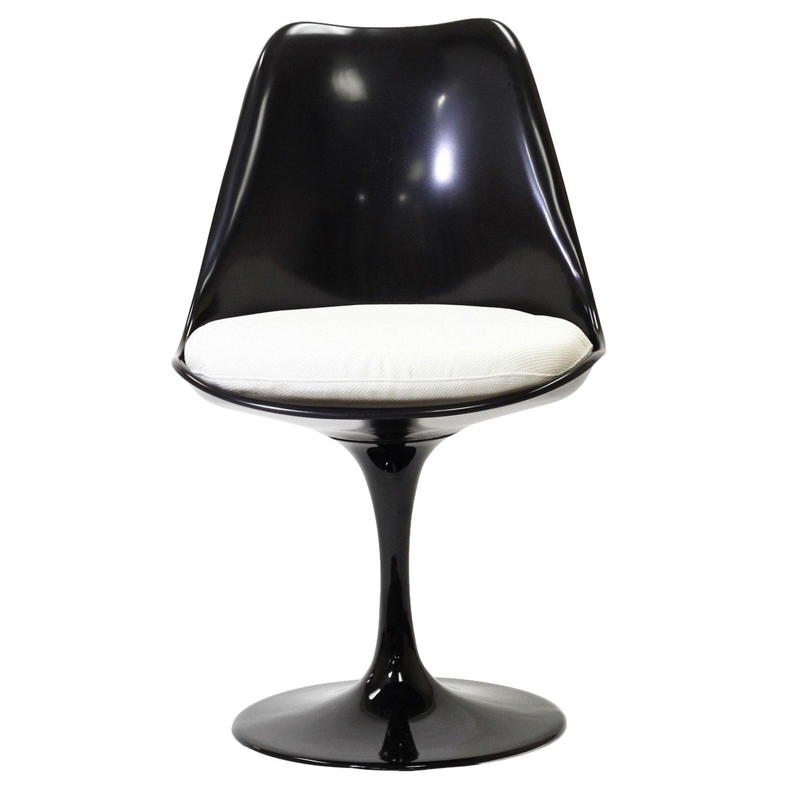 Lexmod Black Eero Saarinen Style Tulip Side Chair With