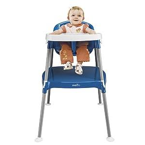 Evenflo Minimeal High Chair Dottie, Royal
