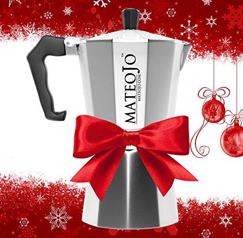 Stovetop Espresso Maker - Italian Moka Pot - Cafetera - Cuban Coffee Machine - 6 Cups by MateoJo ...