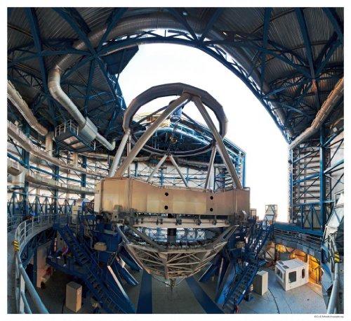 Astronomy Poster - Eso - Vlt-Inside-C-Cc - Inside View Of A Vlt Unit Telescop...