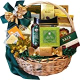 Well Stocked Gourmet Food and Snack Sampler Gift Basket with Smoked Salmon
