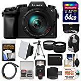 Panasonic Lumix DMC-G7 4K Wi-Fi Digital Camera & 14-42mm (Black) with 45-150mm Lens + 64GB Card + Case + Flash + Battery & Charger + Tripod + 2 Lens Kit