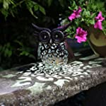 Smart Garden Metal Scroll Owl Solar L...