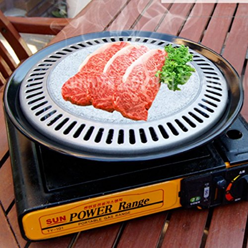 Bbq Stone Grill Stovetop Barbecue Steak Pork Belly Pan Korean BBQ Grill
