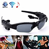 Bluetooth Sunglasses, WwWSuppliers Black Sunlasses for Any Bluetooth Capable Device iPhone Samsung Galaxy Android Sports Music & Talk Shades Glasses ~ Gafas Anteojos Auriculares Inalambrico
