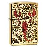 Zippo Crustacean Design Pocket Lighter, High Polish Brass