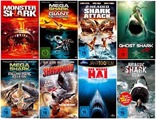 DIE GROSSE HAI BOX COLLECTION ( Fan-Paket mit 10 Hai-Film Klassiker incl. Sharknado 1+2, Mega Shark - Jurassic Shark ) [7 DVDs]