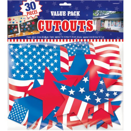 Patriotic Cutouts Value Pack