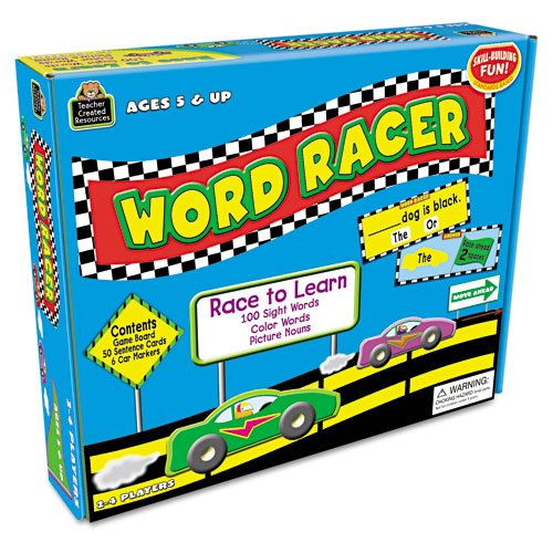 Teacher Created Resources Products - Teacher Created Resources - Word Racer Game, Ages 5 & Up, 2-4 Players - Sold As 1 Each - Each