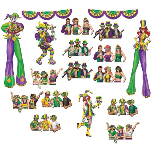 Mardi Gras Reveler Props Party Accessory (1 count) (18/Pkg)