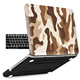 iBenzer Old MacBook Pro 13 Inch case A1278, Soft Touch Hard Case Shell Cover with Keyboard Cover for Apple MacBook Pro 13 with CD-ROM, Desert Camouflage MPD13CFBR+1A (Color: Z-Desert Camouflage, Tamaño: Previous Generation MacBook Pro 13'' A1278)