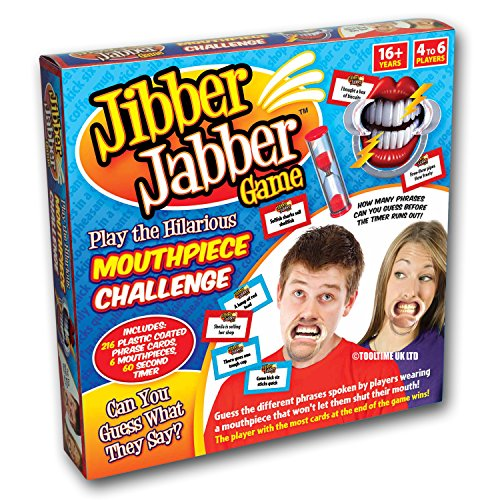 Jibber Jabber Party Game - The Hilarious Mouthpiece Speak Out Game for Christmas Loud Board Game Challenge - PRE ORDER - UK Edition Version