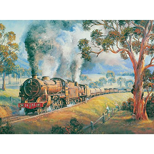 Bits and Pieces - 300 Piece Jigsaw Puzzle - A Friendly Wave, Train - by Artist John Bradley - 300 pc Jigsaw