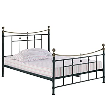 LPD Furniture Regency Metal para cama de matrimonio, en color negro