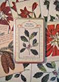 Cavallini Postcard Set- Holiday Botanicals Glitter Greetings