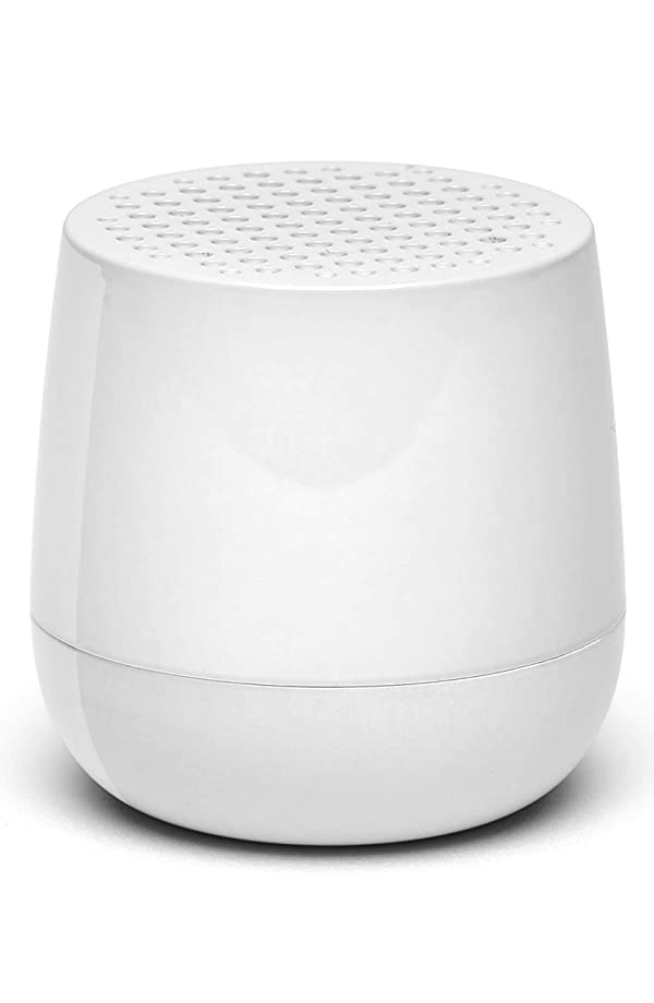 Lexon MINO - Ultra Portable Bluetooth Speaker & Selfie Remote - Rechargable (Glossy White) (Color: Glossy White)