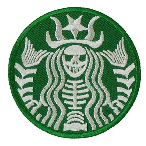 [Halloween Zombie Starbucks Logo Embroidered Iron on Patch] (Last Minute Diy Toddler Halloween Costumes)