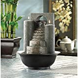 Gifts & Decor 4-Tier Tabletop Water Fountain Decorative Sculpture