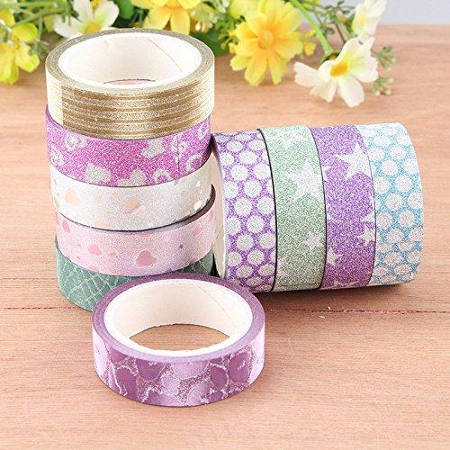 auaudate-10pcs-brillo-patron-washi-tape-cintas-adhesivo-bricolaje-los-artes-decorativos-15cmx3m