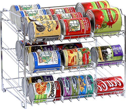SimpleHouseware Stackable Can Rack Organizer, Chrome (Stackable Can Dispenser compare prices)