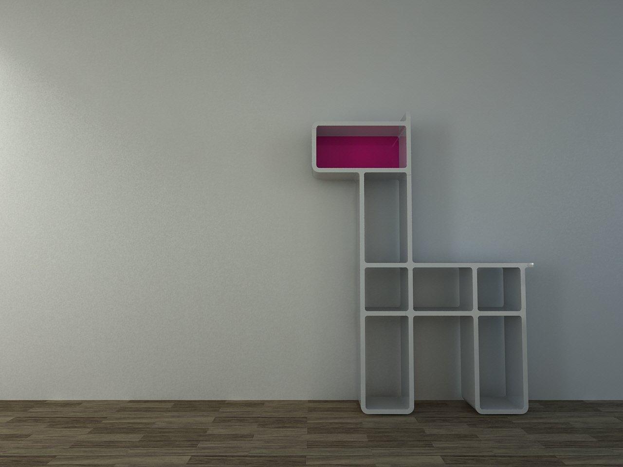 CUMIX DESIGN Regal System cm-mv-002 weiß , Rückwand pink