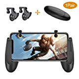 PUBG Mobile Controller, Belsupay Mobile Game Controller with Gamepad for iphone Android 4.5-6.4inch, Sensitive Aim and Shoot Mobile Game Triggers L1R1 Fit for Pubg/Fortnite/Battlegrounds (Color: black-01)