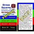Stress Square Instruction Cards-100 Heavy Cardstock Cards