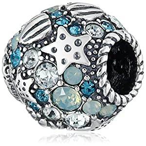 Chamilia Sterling Silver and Swarovski Crystal Buried Treasure Bead Charm