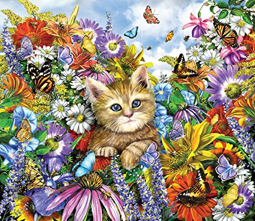 Kitty in the Garden a 200-Piece Jigsaw Puzzle by Sunsout Inc.