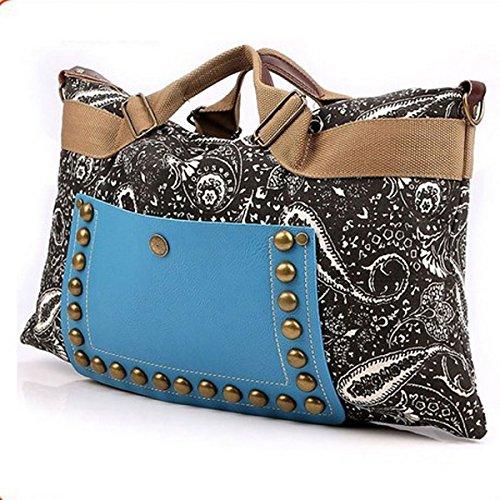 SQdeal® Women New Hobo Satchel Fashion Tote Messenger Leather Canvas Purse Shoulder Handba