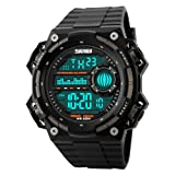 SKMEI Smart Watch Pedometer Calories Clocks Waterproof Digital Wristwatches Outdoor Sports Watches (Color: color1)